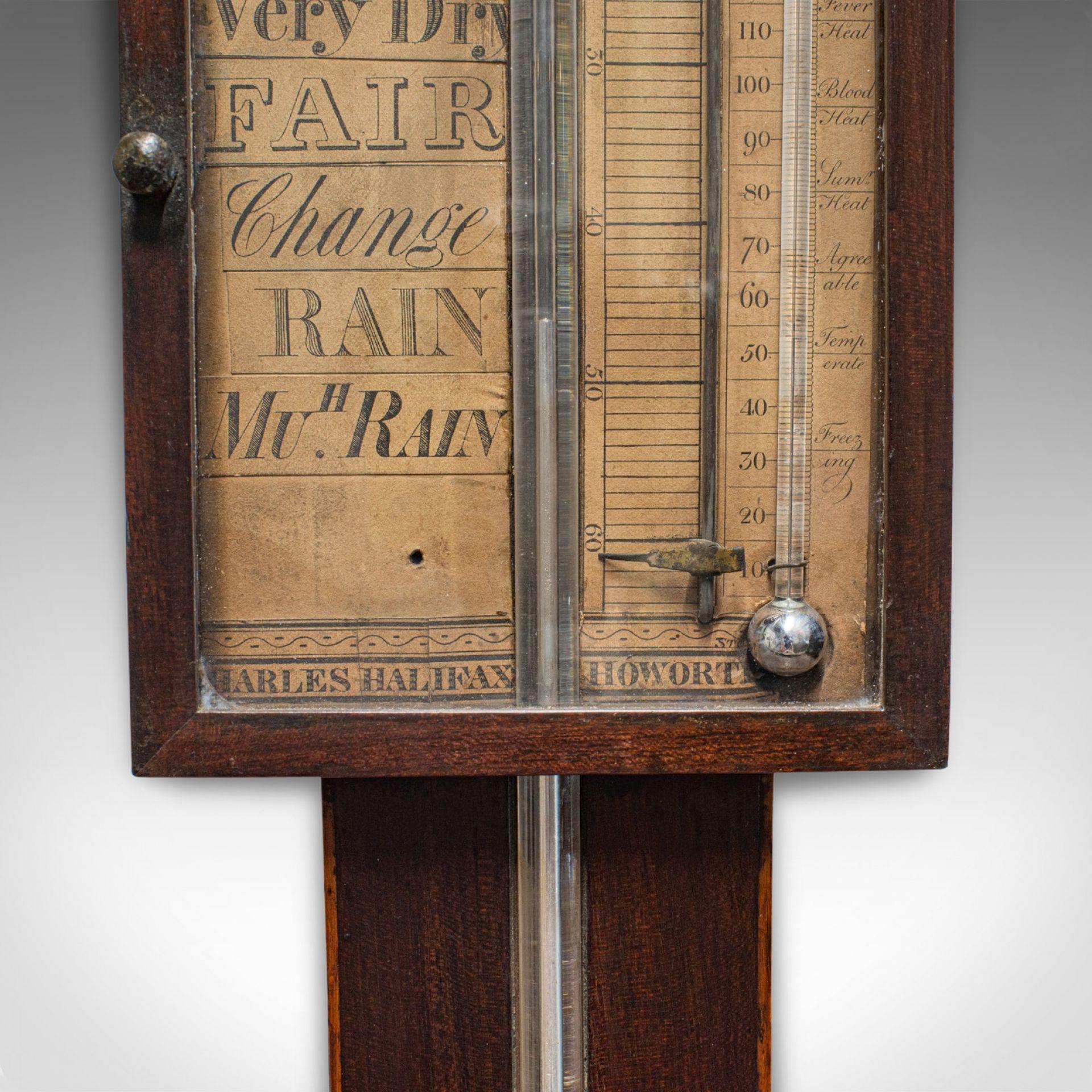 Antique Stick Barometer, English, Mahogany, Charles Howarth, Halifax, Victorian