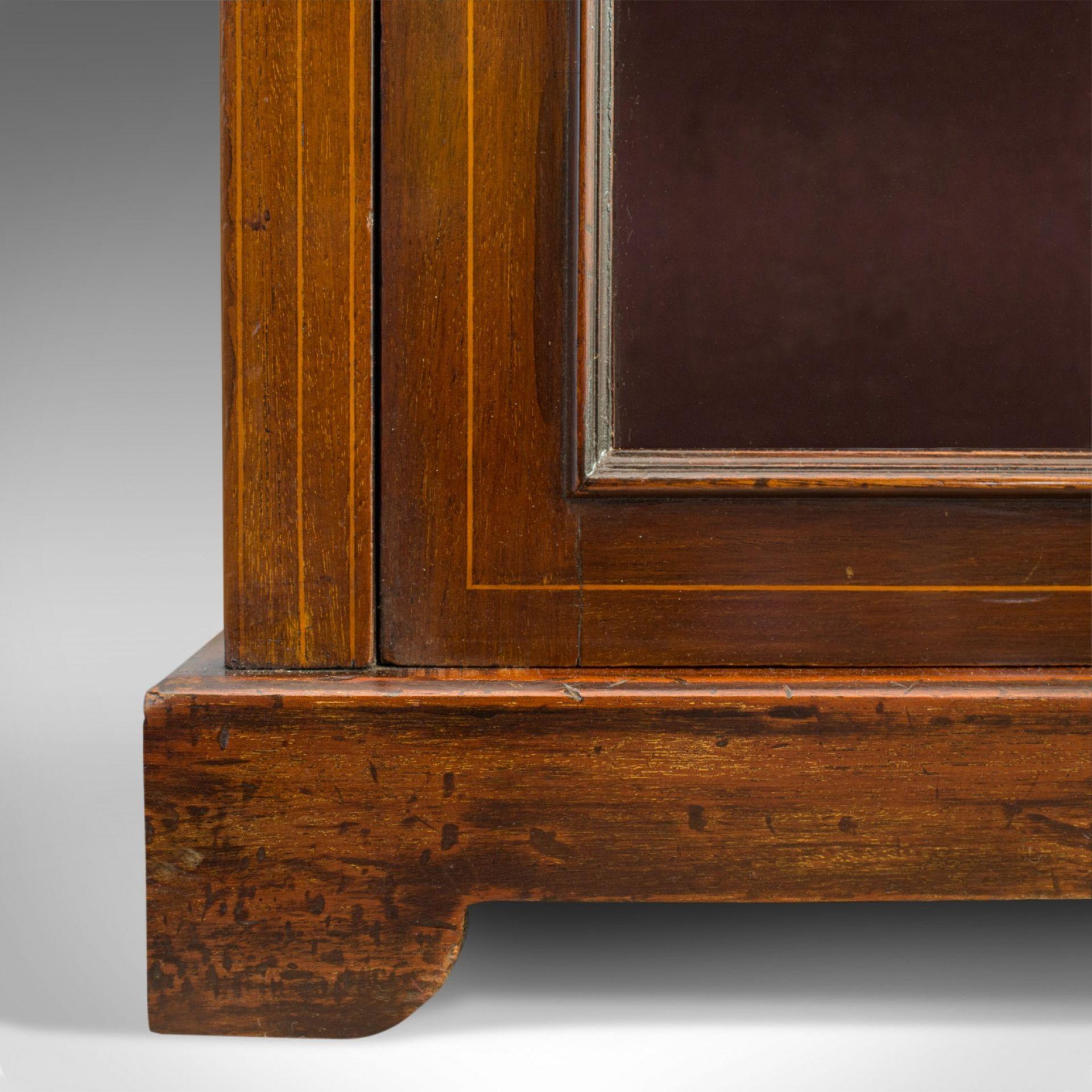 Antique Pier Cabinet, English, Mahogany, Display, Showcase, Late 19th Century