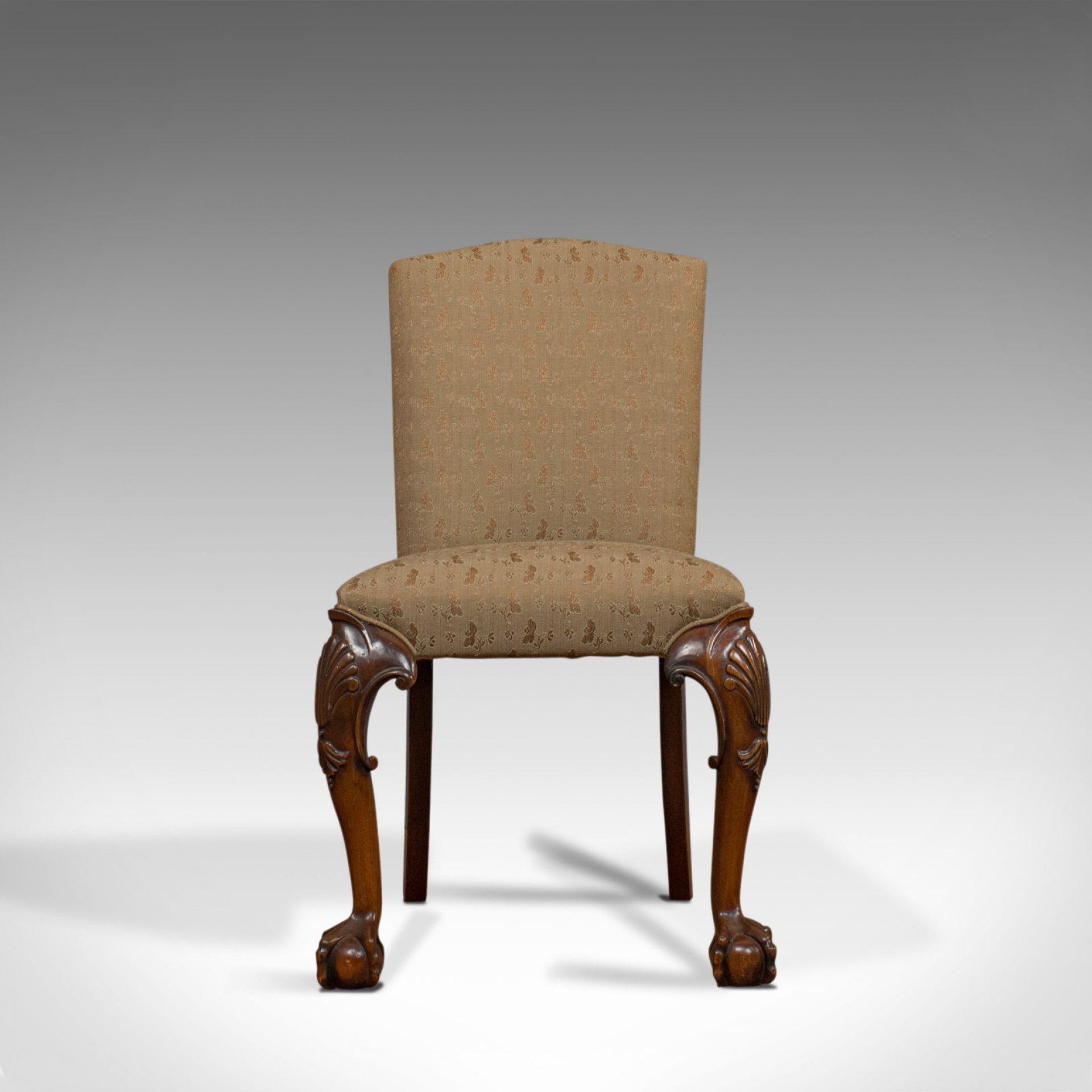 Vintage Side Chair, English, Mahogany, Georgian Revival, Drawing Room