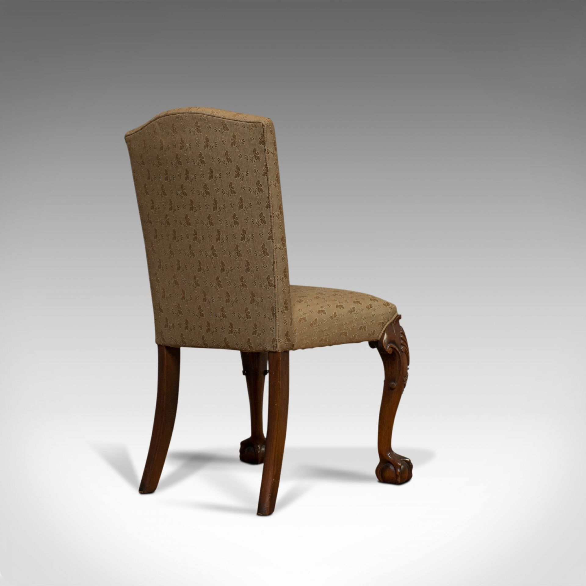 Vintage Side Chair, English, Mahogany, Georgian Revival, Drawing Room