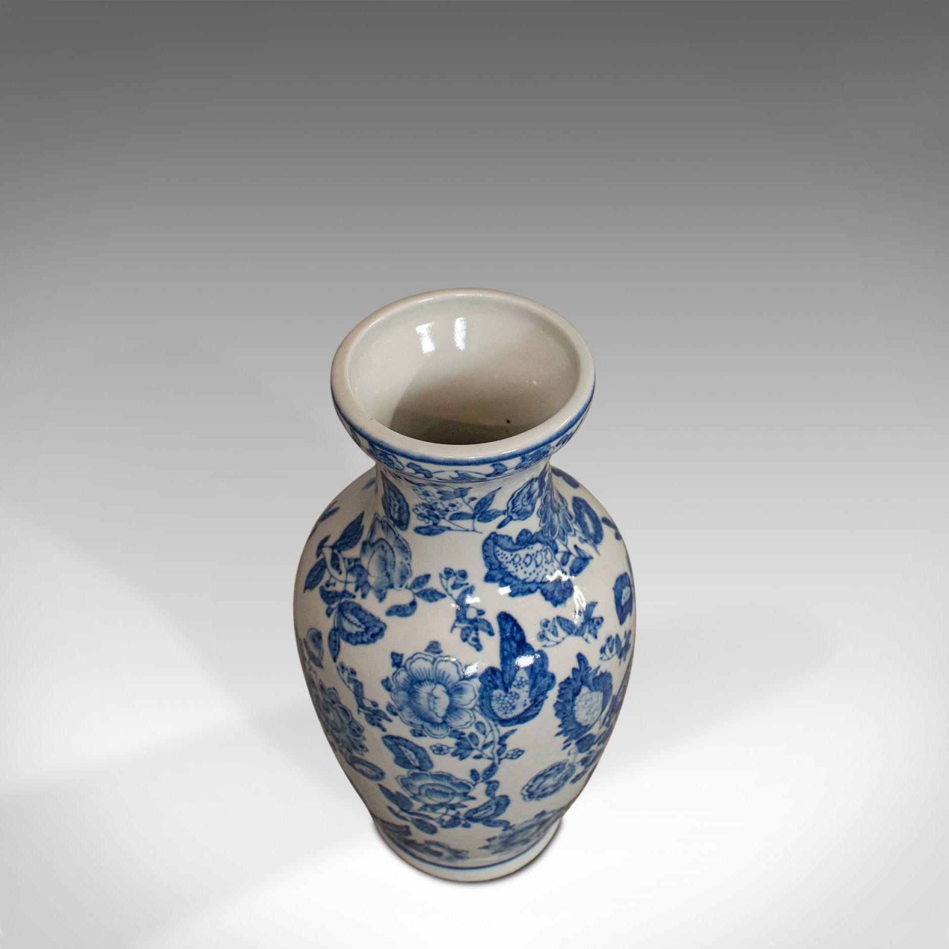 Vintage Decorative Vase, Oriental, Ceramic, Baluster, Urn, Chinese, Floral