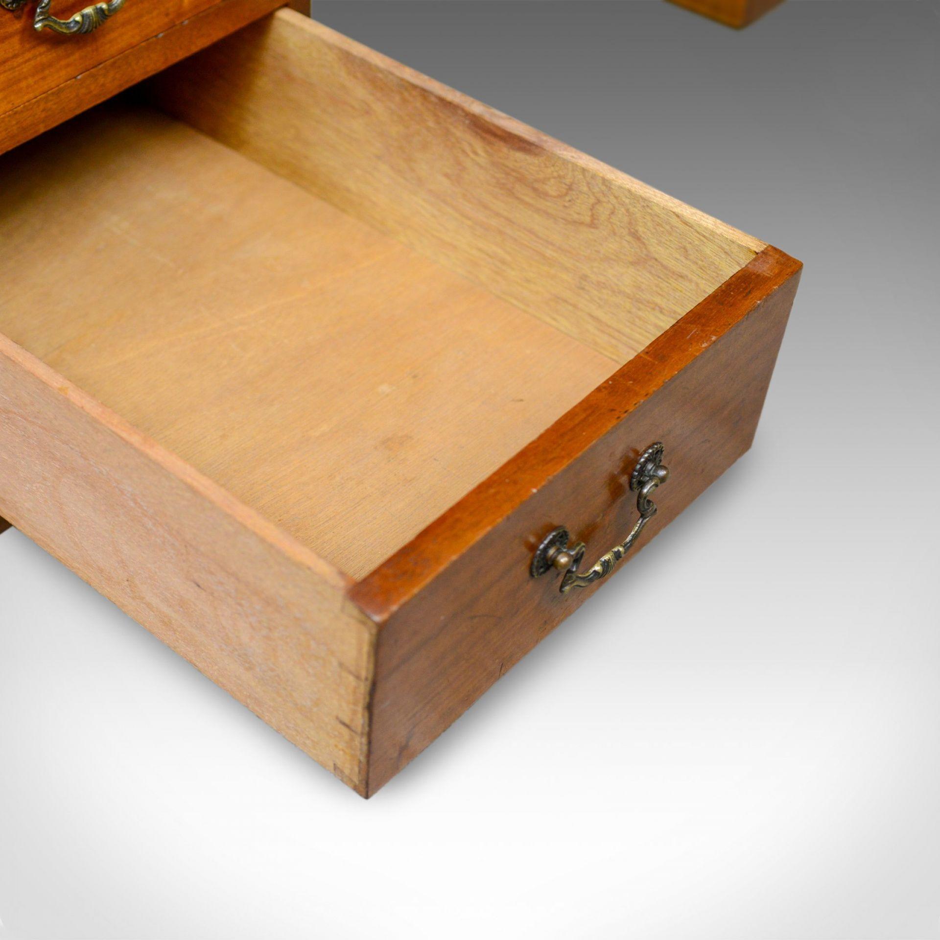 Vintage Pedestal Desk, English, Mahogany, Tooled Leather, Mid 20th Century
