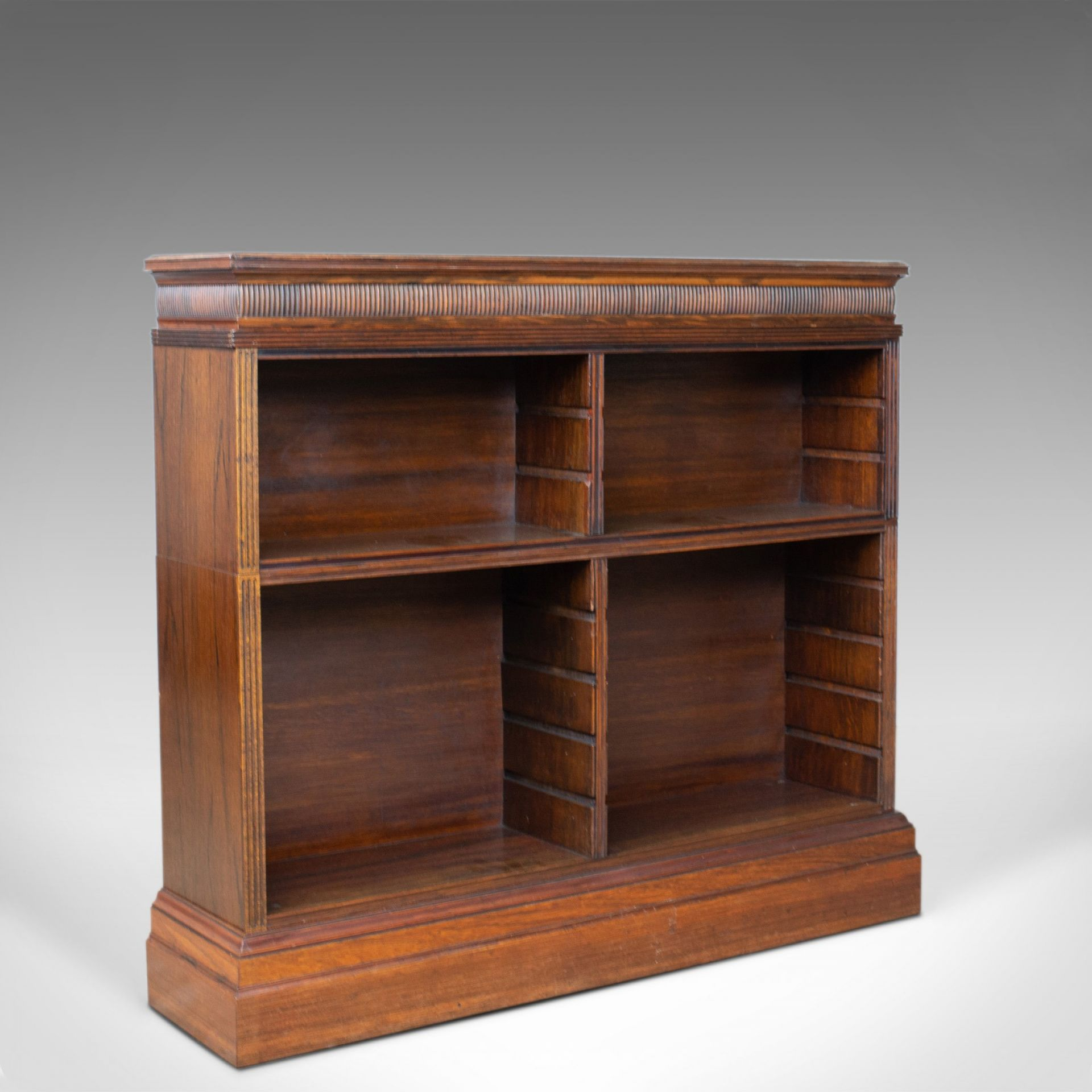 Antique Open Bookcase, English, Regency and Later, Bookshelves, Rosewood, c.1830