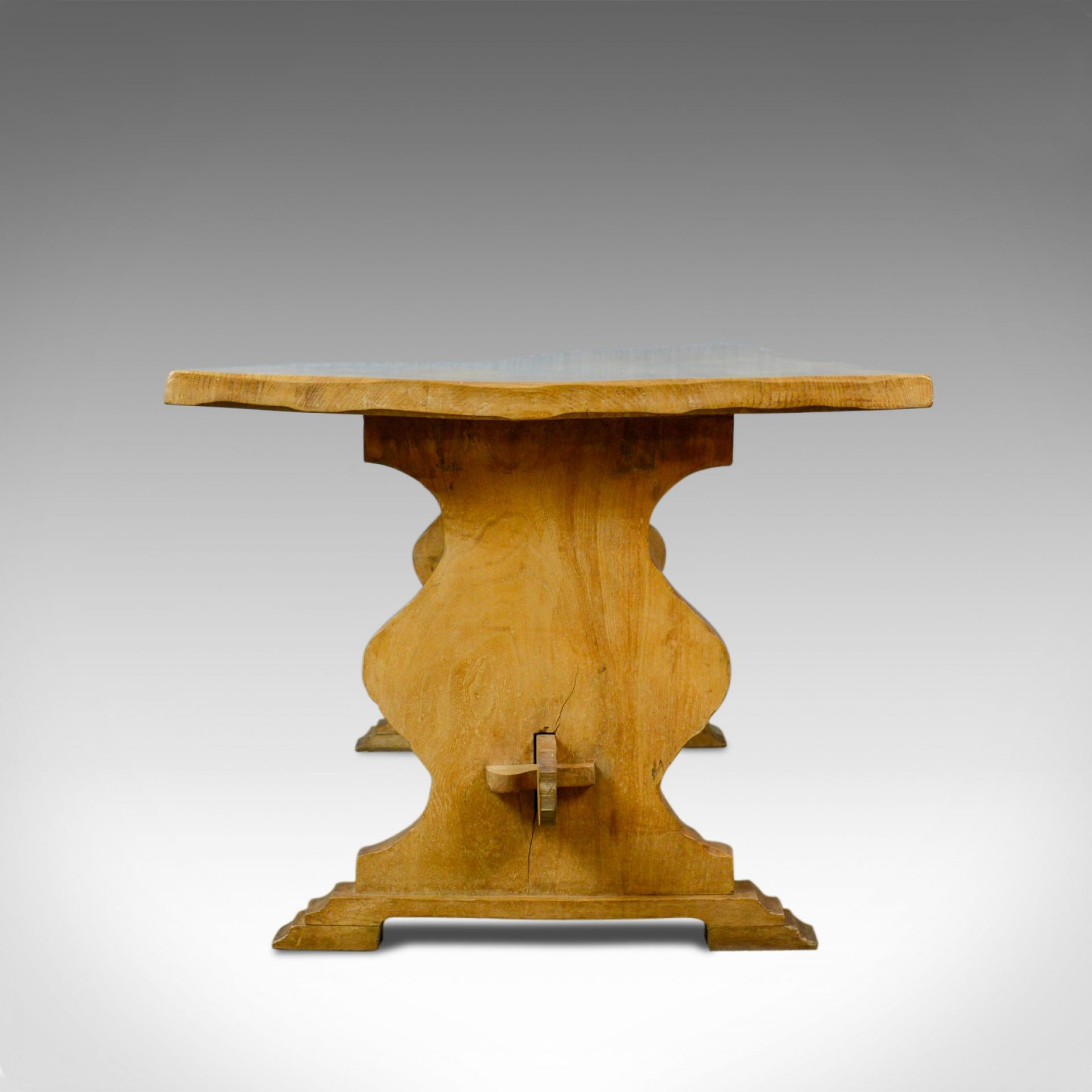 Antique Refectory Dining Table, English, Farmhouse, Elm, Victorian, Circa 1900