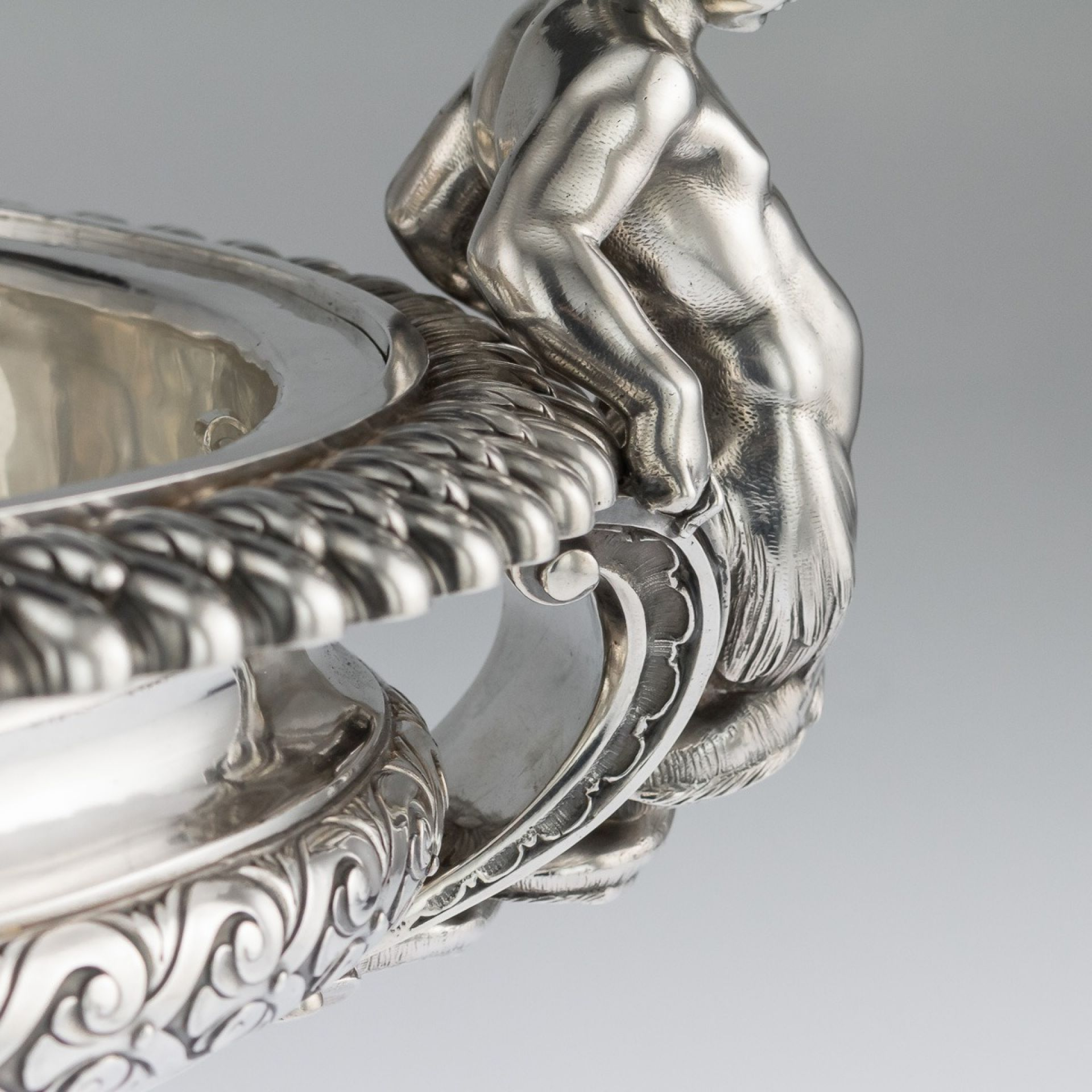 ANTIQUE 19thC FRENCH SOLID SILVER JARDINIERE CENTREPIECE, ODIOT c.1880
