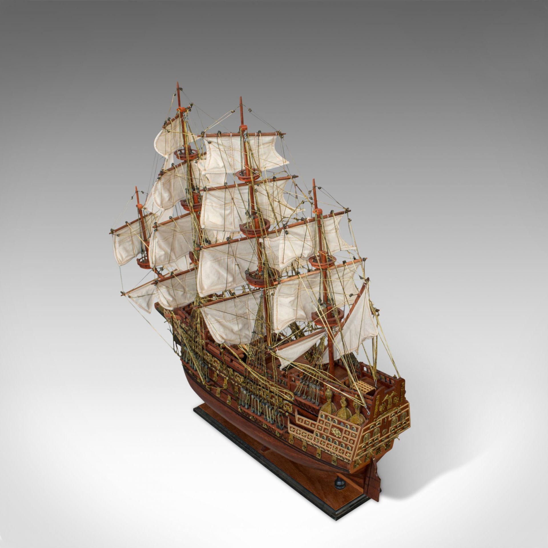 Large Vintage Model, Sovereign of the Seas, English, Mahogany, Collectible, Ship