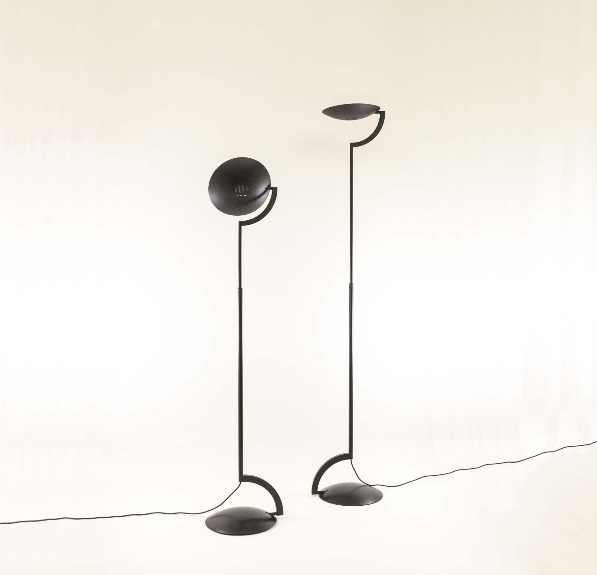 Pair of Eco floor lamps by Mario Barbaglia & Marco Colombo for Italiana Luce