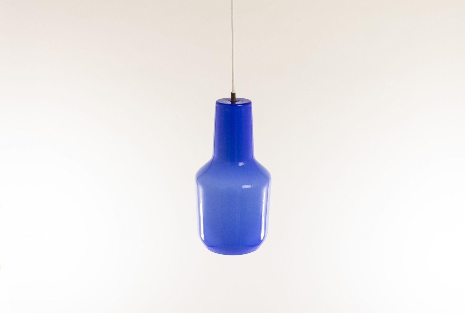 Blue pendant by Massimo Vignelli for Murano glass specialist Venini, 1950s
