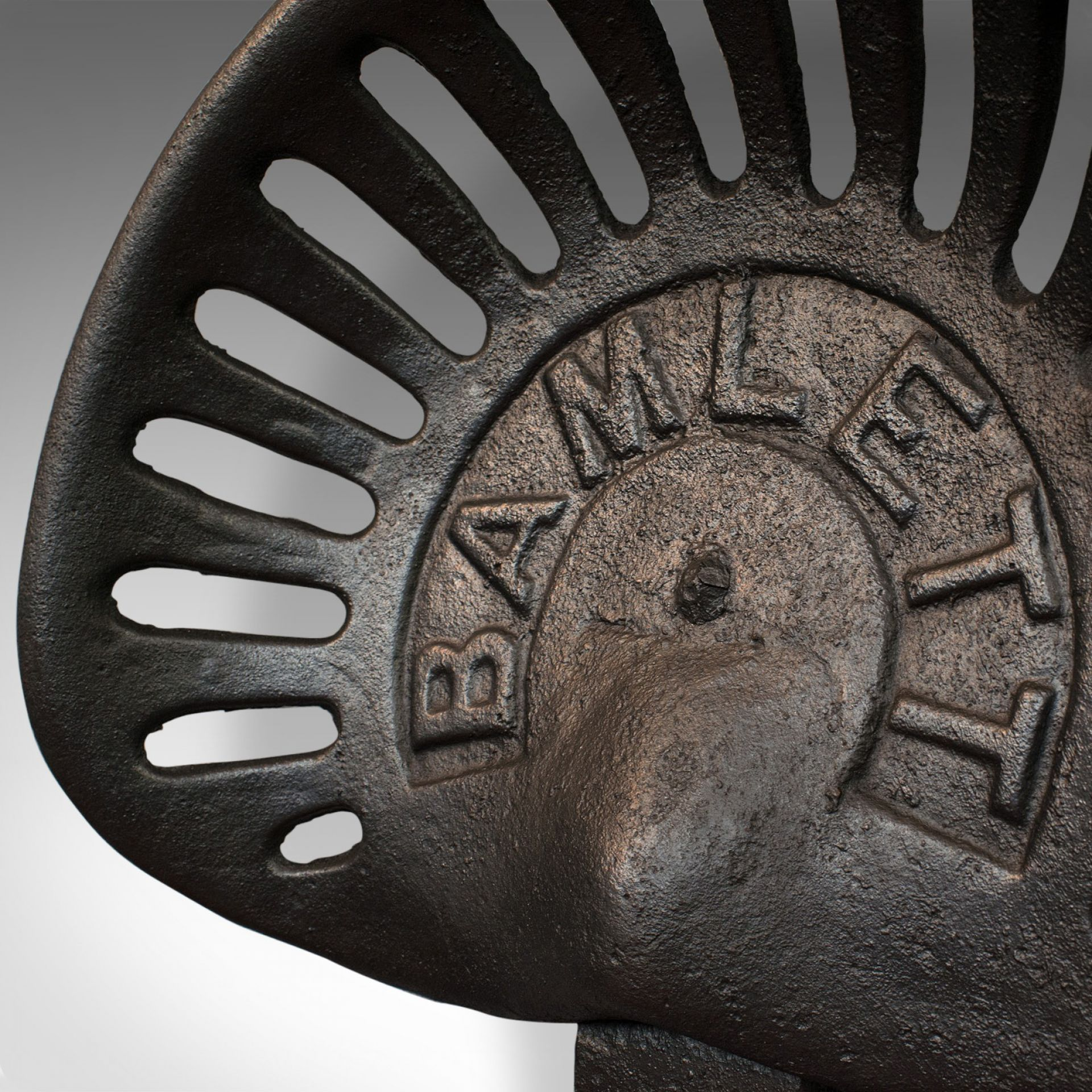 Antique Bamlett Tractor Seat, English, Cast Iron, Decorative, Agricultural
