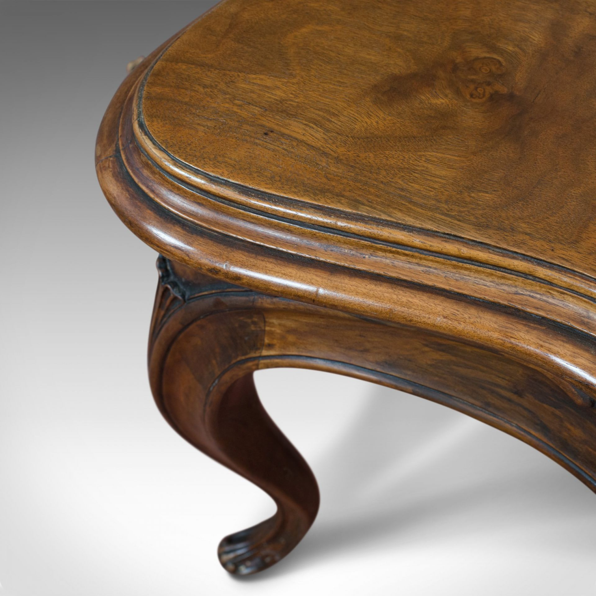 Antique Centre Table, French, Walnut, Serpentine, Occasional, Louis XV Taste
