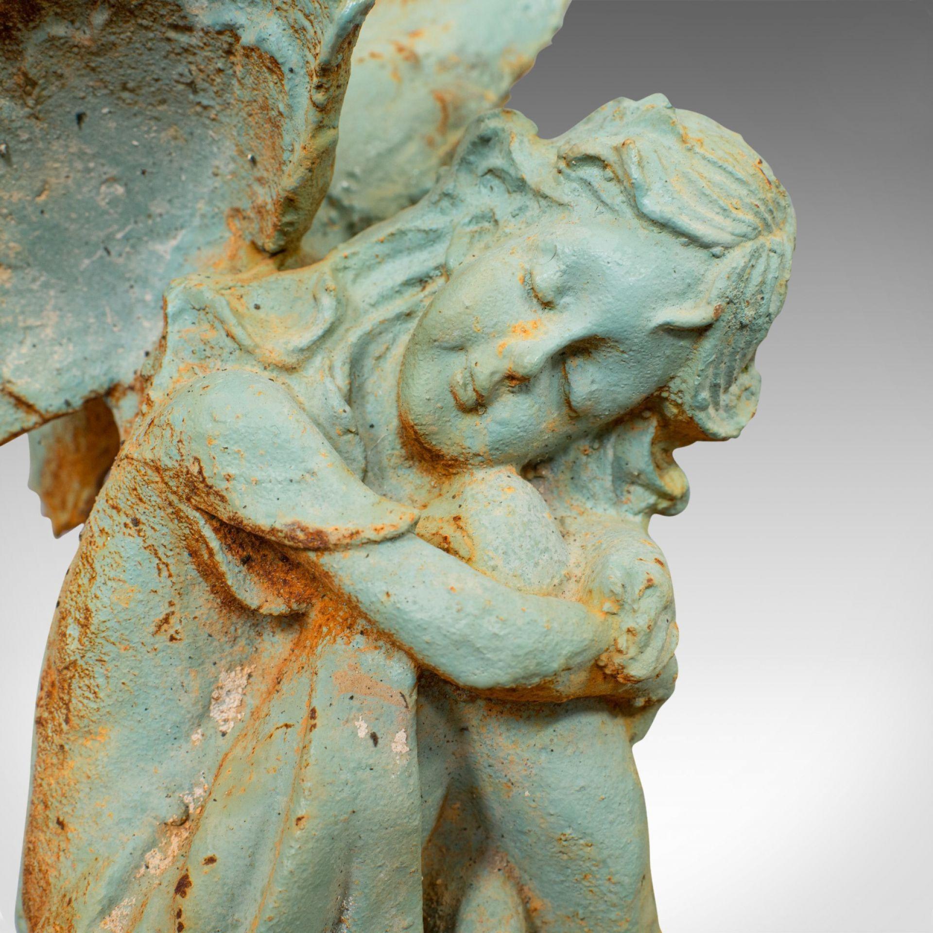 Vintage  Fairy Ornament, English, Cast Iron, Garden, Decorative, Statuette