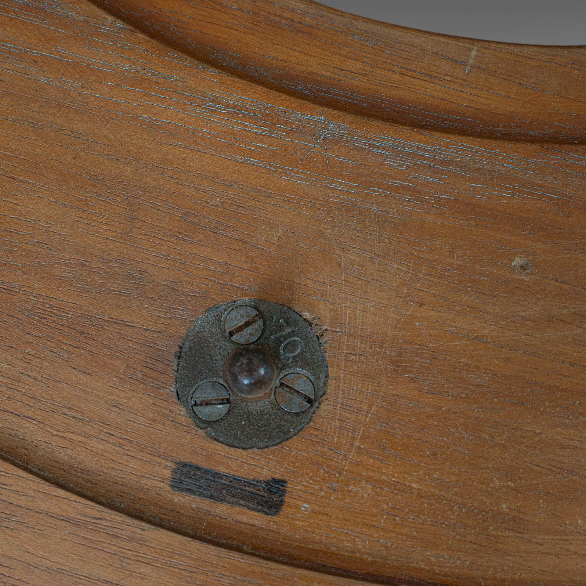 Vintage Decorative Mould, English, Two-Piece, Circular, Factory, Pattern, Wall