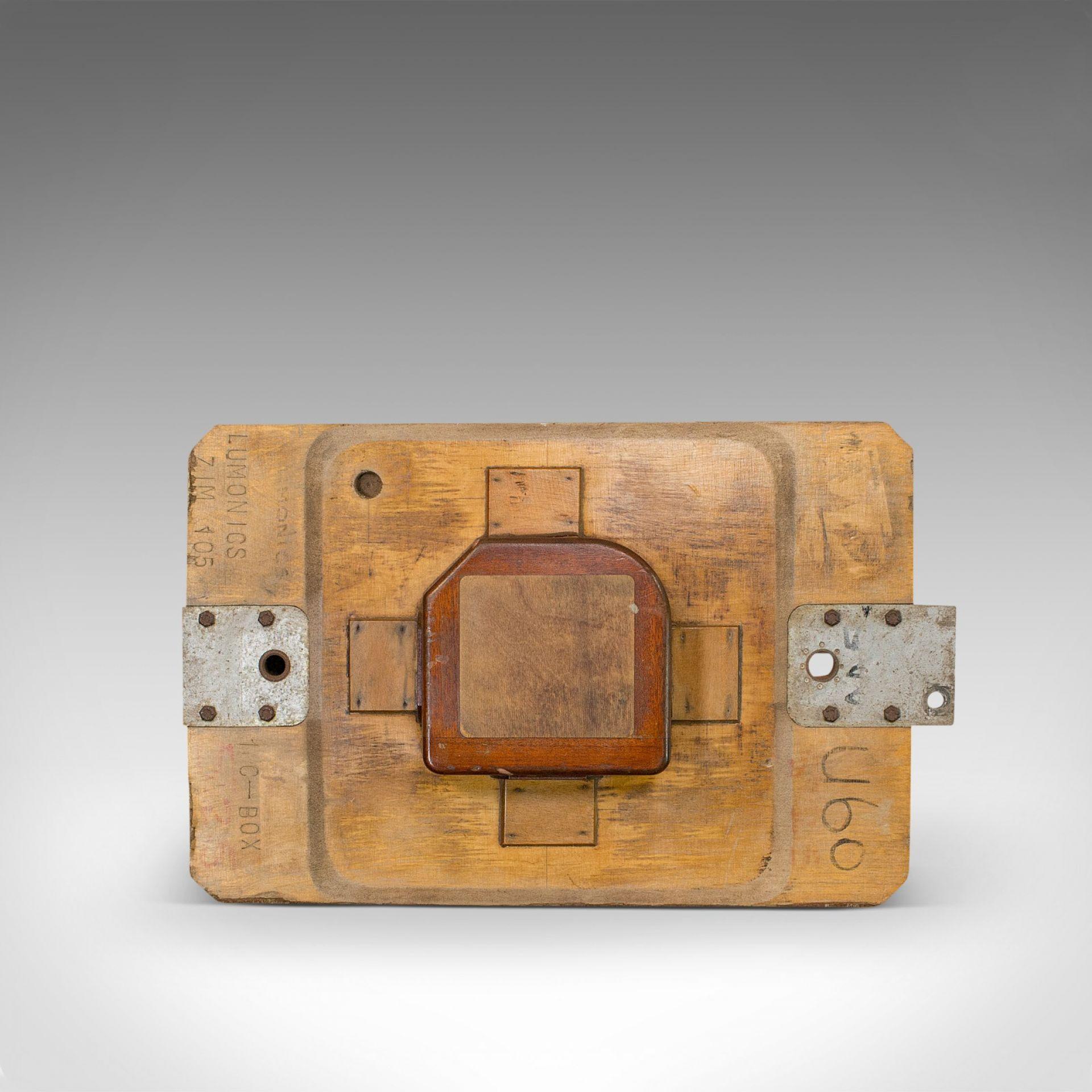 Vintage Decorative Pattern, English, Mahogany, Hanging, Factory Mould, Maritime