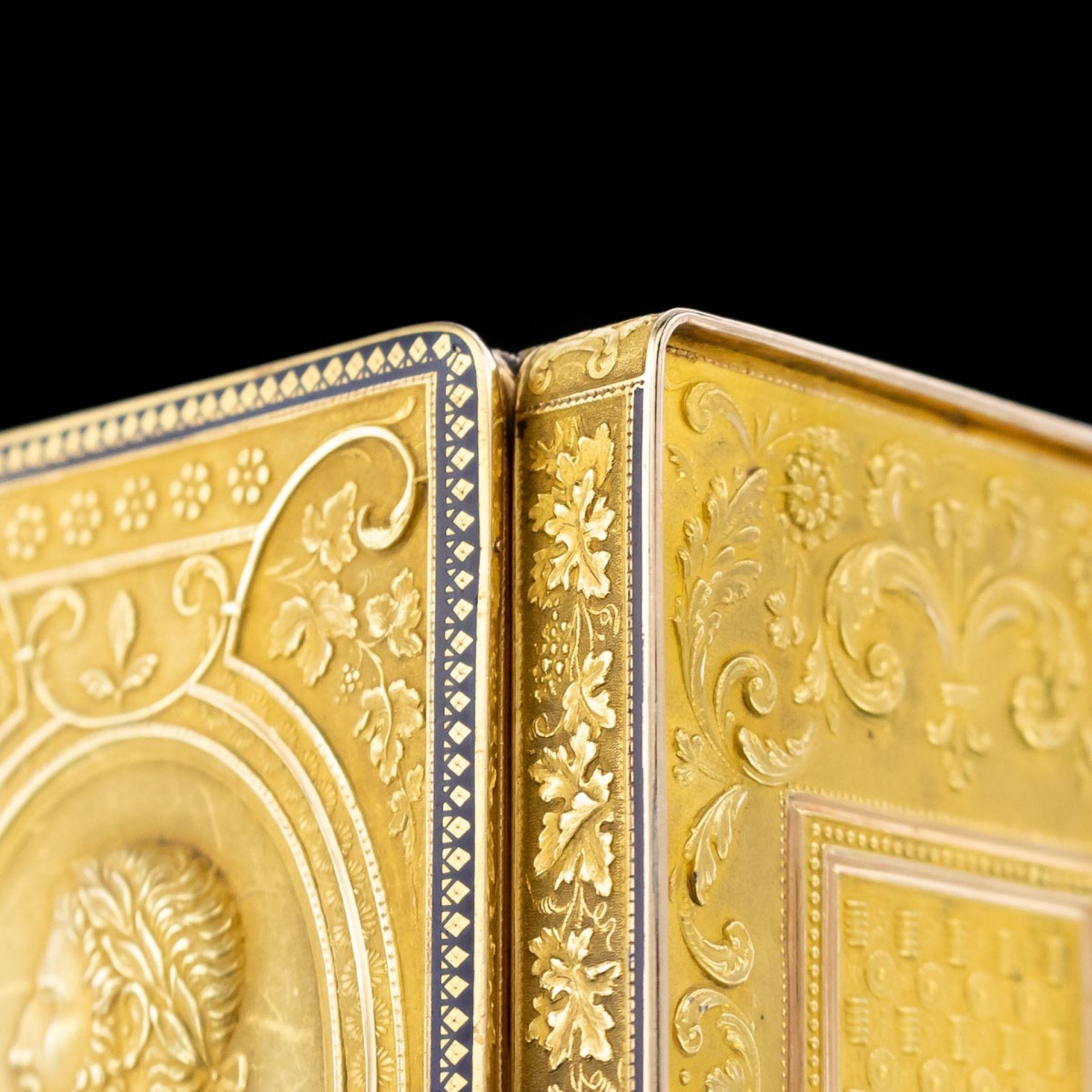 ANTIQUE 19thC SWISS 18k GOLD & ENAMEL SNUFF BOX, GENEVA c.1800