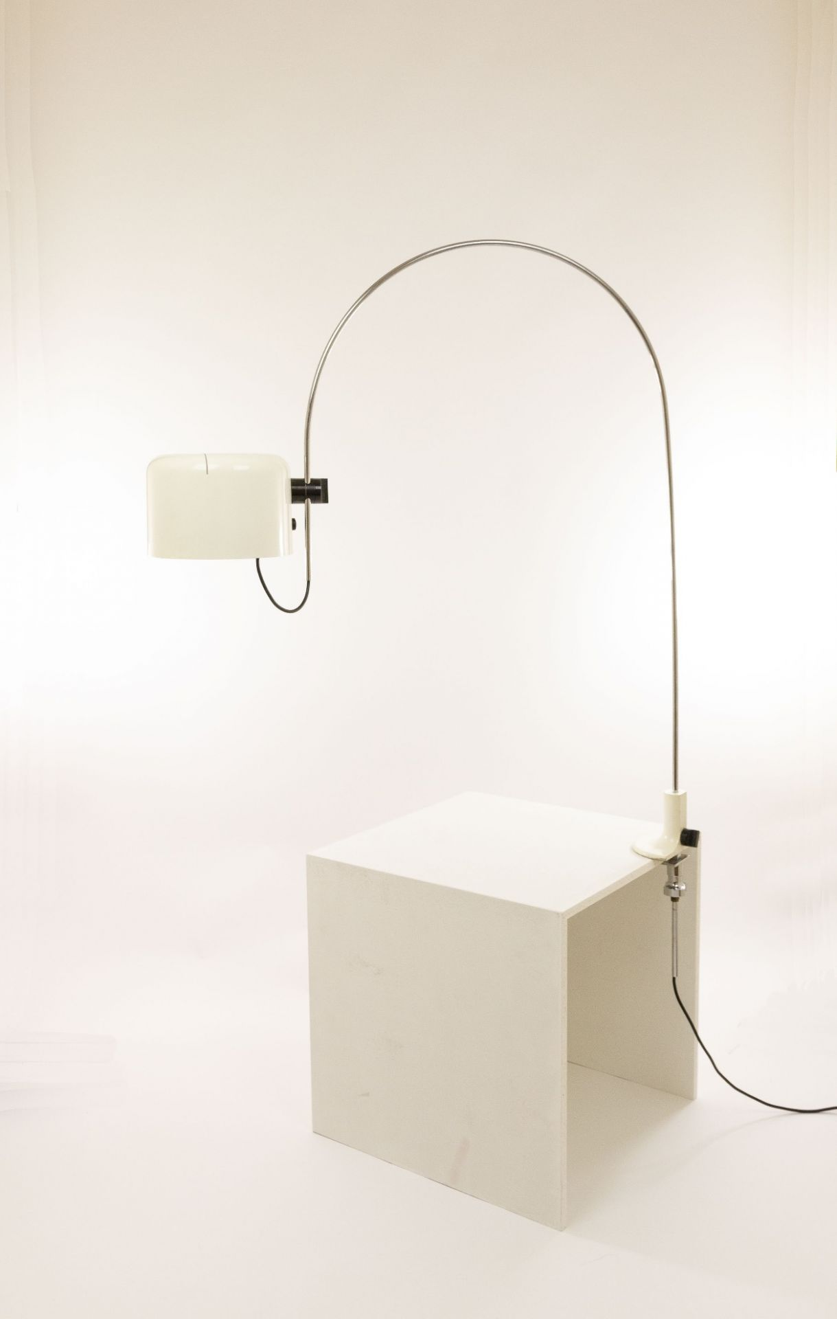 Large arc table lamp Coupé by Joe Colombo for O-Luce, 1967