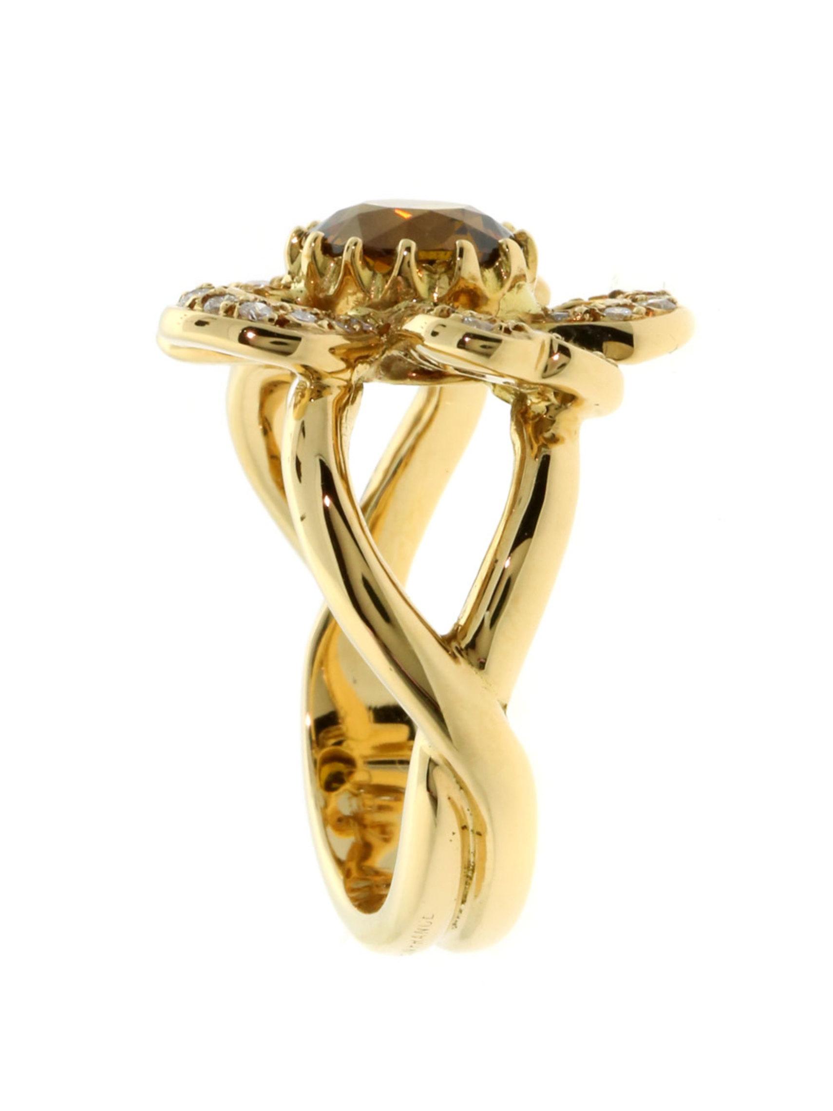 Hermes Flower Ring