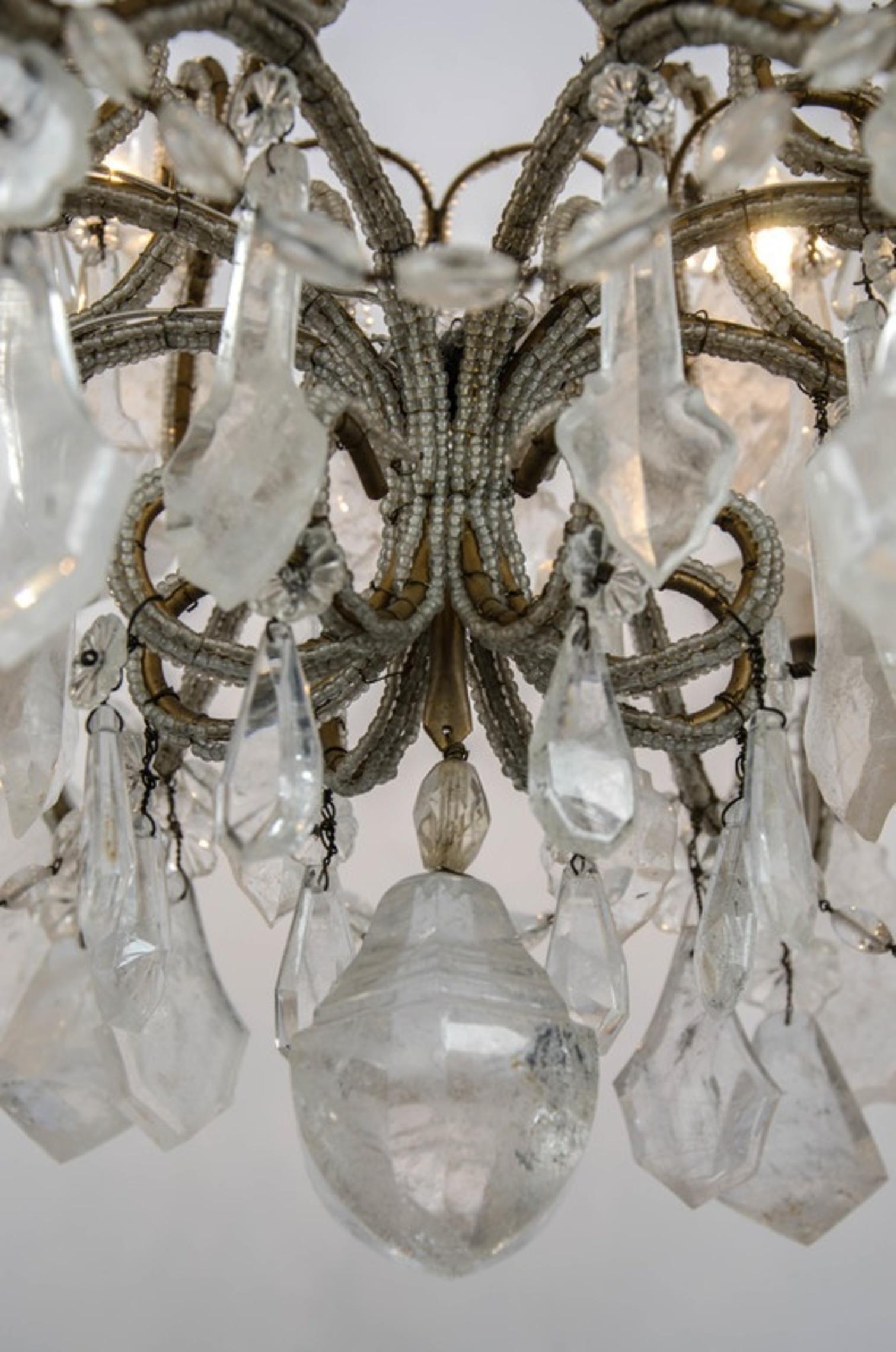 Italian Beads Rock Crystal Chandeliers