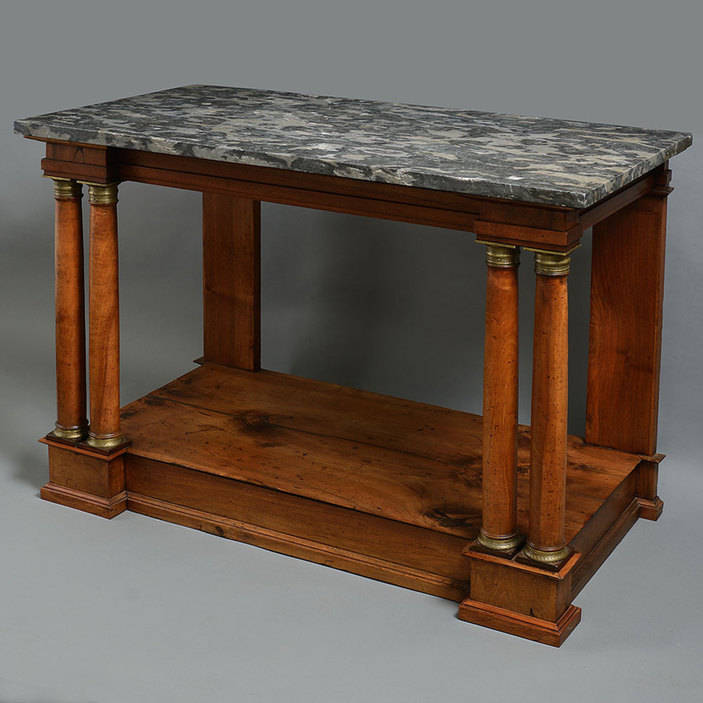 An Empire Period Walnut Console Table