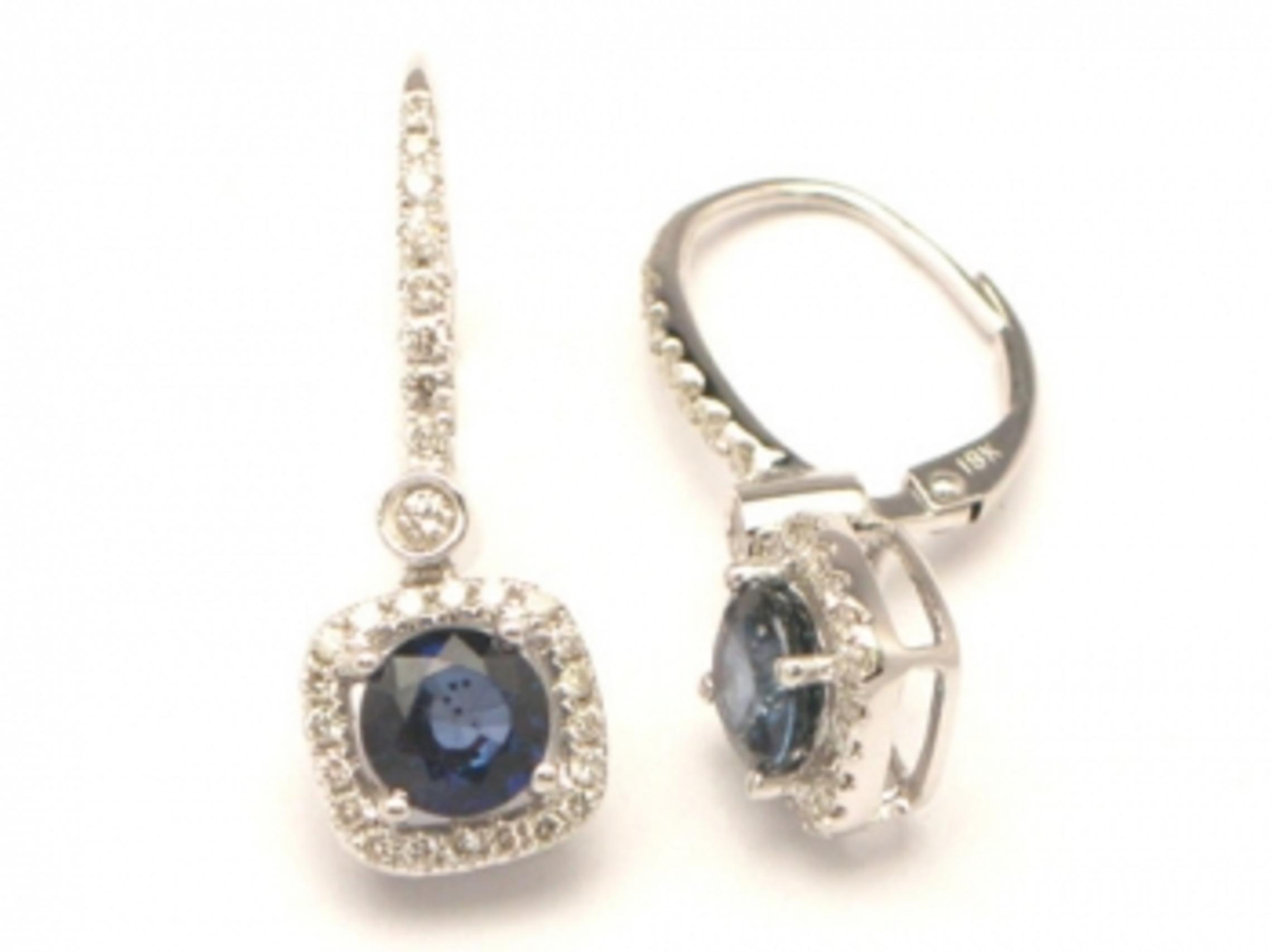 18kw Sapphire Earrings