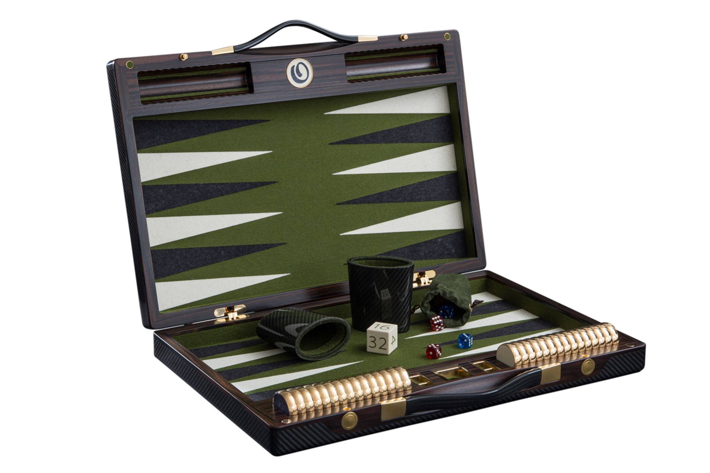 NEW  series of our luxurious Carbon-Fibre Backgammon