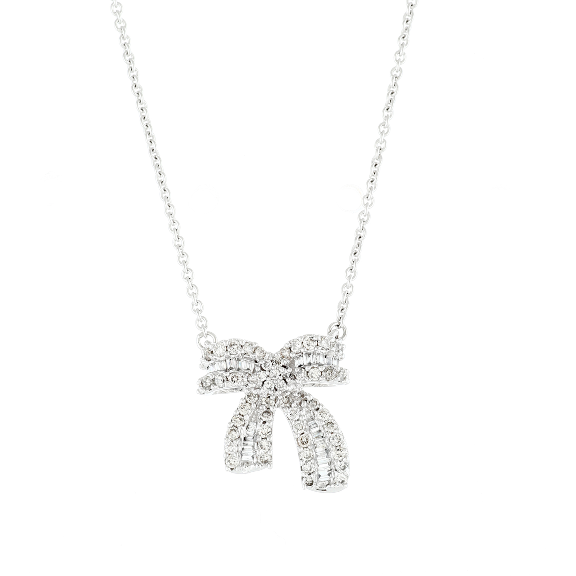 Bow Tie Diamond Necklace