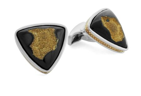 Tateossian Gold Drusy Cufflinks