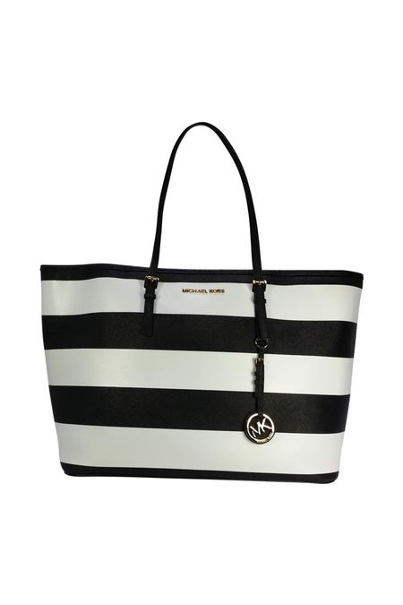 MICHAEL KORS Jet Set Medium Stripe Tote