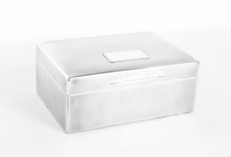 Antique Art Deco Silver Cigar Box Finnigans Bond St1927