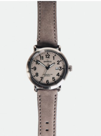 SHINOLA RUNWELL 41MM WATCH: GREY/GREY