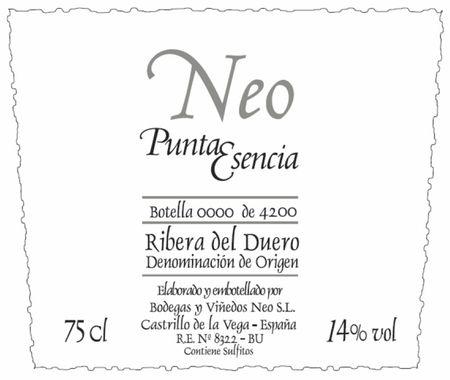 Neo Punta Esencia 2004, Ribera del Duero, Spain