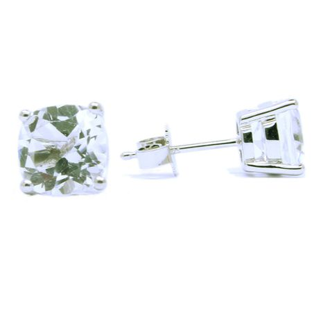 Sterling Silver Topaz Studs - Special Cut