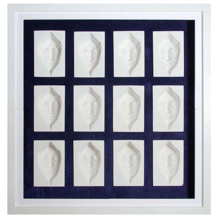 12-Face Contemporary 3-D Concave Sculpture