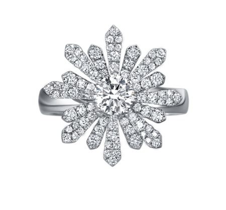 TAK FOOK - 18K DIAMOND RING