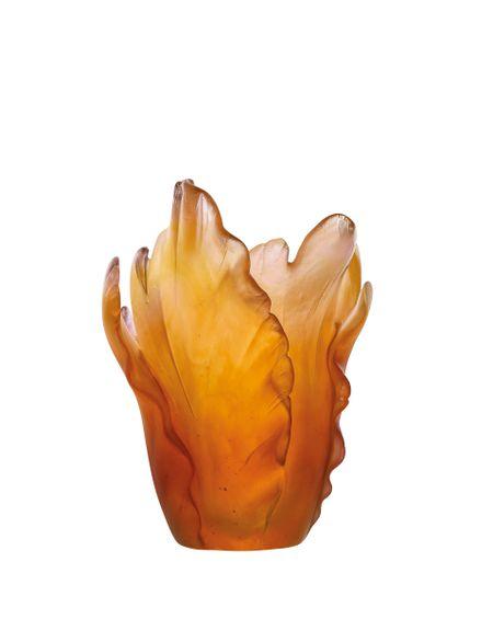 Amber Tulip Vase