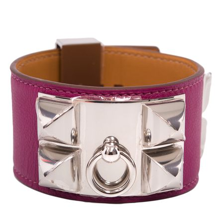 Hermes Tosca Swift Collier De Chien (CDC) Bracelet with Palladium Hardware
