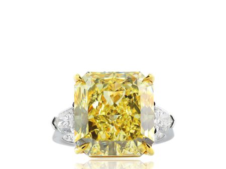 12.03ct Radiant Cut Canary Diamond Ring