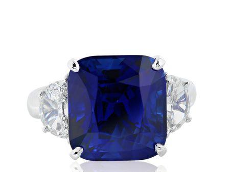 11.14ct Sapphire & Diamond Ring