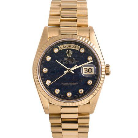 Circa 1990 Rolex Aventurine Diamond Dial Day-Date