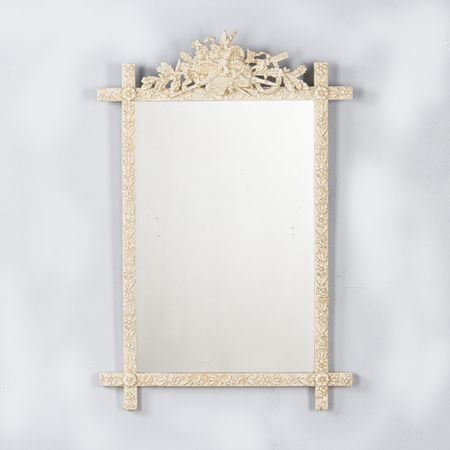 French Louis XVI Style Painted Mirror, Late 1800s