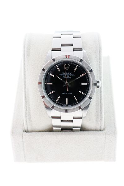 ROLEX AIRKING 14010 GENTS PRECISION BLACK DIAL ENGINETURNED BEZEL