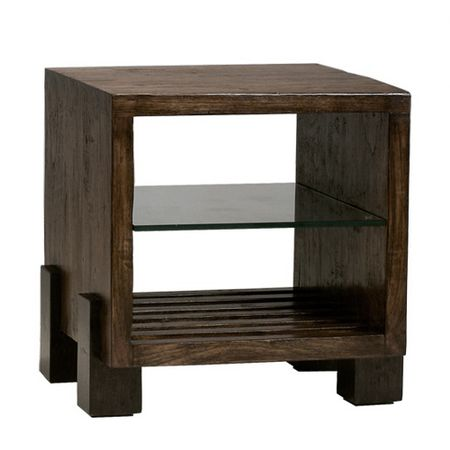 Mirai Side Table with Glass Shelf