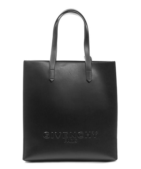 GIVENCHY Leather Logo Debossed Stargate Shopper Bag