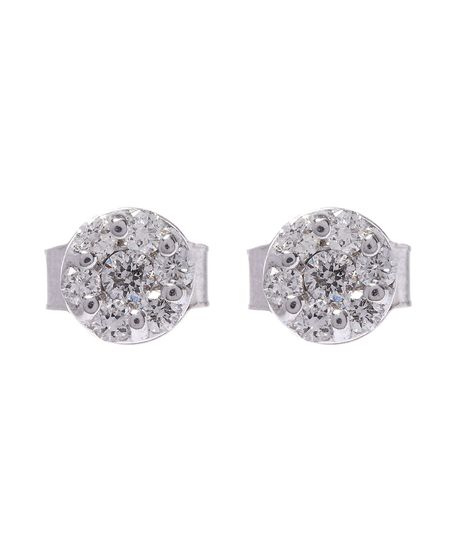 KOJIS White Gold Brilliant Cut Diamond Cluster Earrings