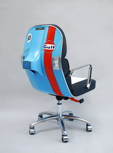 BEL&BEL SCOOTER CHAIR New Edition- Sky Blue & Black and white