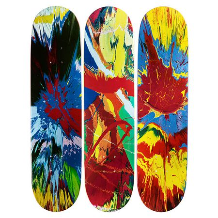 Hirst: Spin skateboard triptych