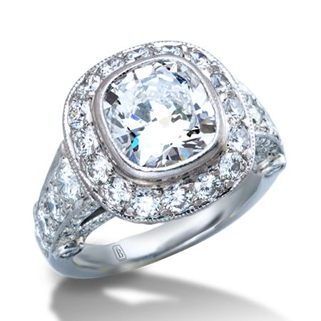 de Boulle Bridal Collection Cushion Cut Diamond Ring