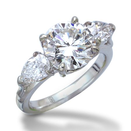 de Boulle Bridal Collection Diamnnd Three Stone Ring
