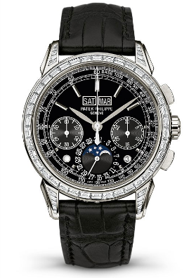 Grand Complications Black Lacquered Dial Automatic Men\'s Watch