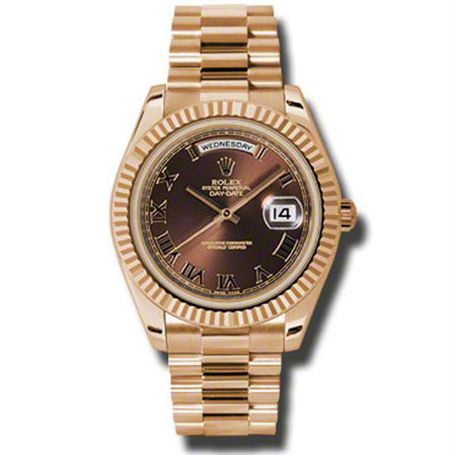 Rolex Day-Date II President Pink Gold - Fluted Bezel