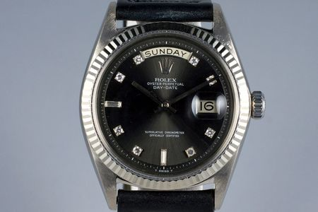 1964 ROLEX WG DAY-DATE 1803 FACTORY GRAY DIAMOND DIAL